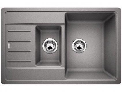 Granitový dřez Blanco LEGRA 6 S Compact aluminium oboustranné prov.