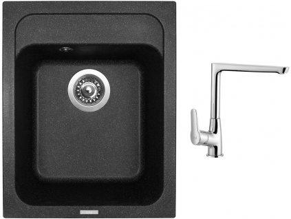 Granitový dřez Sinks CLASSIC 400 Granblack + Dřezová baterie Sinks baterie CASPIRA chrom