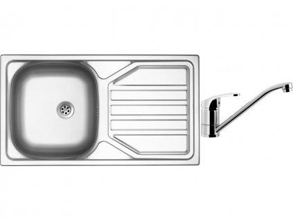 Nerezový dřez Sinks OKIO 780 M 0,5mm matný + Dřezová baterie Sinks PRONTO chrom