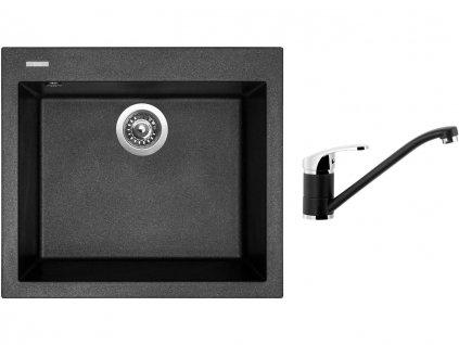 Granitový dřez Sinks CUBE 560 Metalblack + Dřezová baterie Sinks PRONTO Metalblack  + Čistící pasta Sinks na dřezy