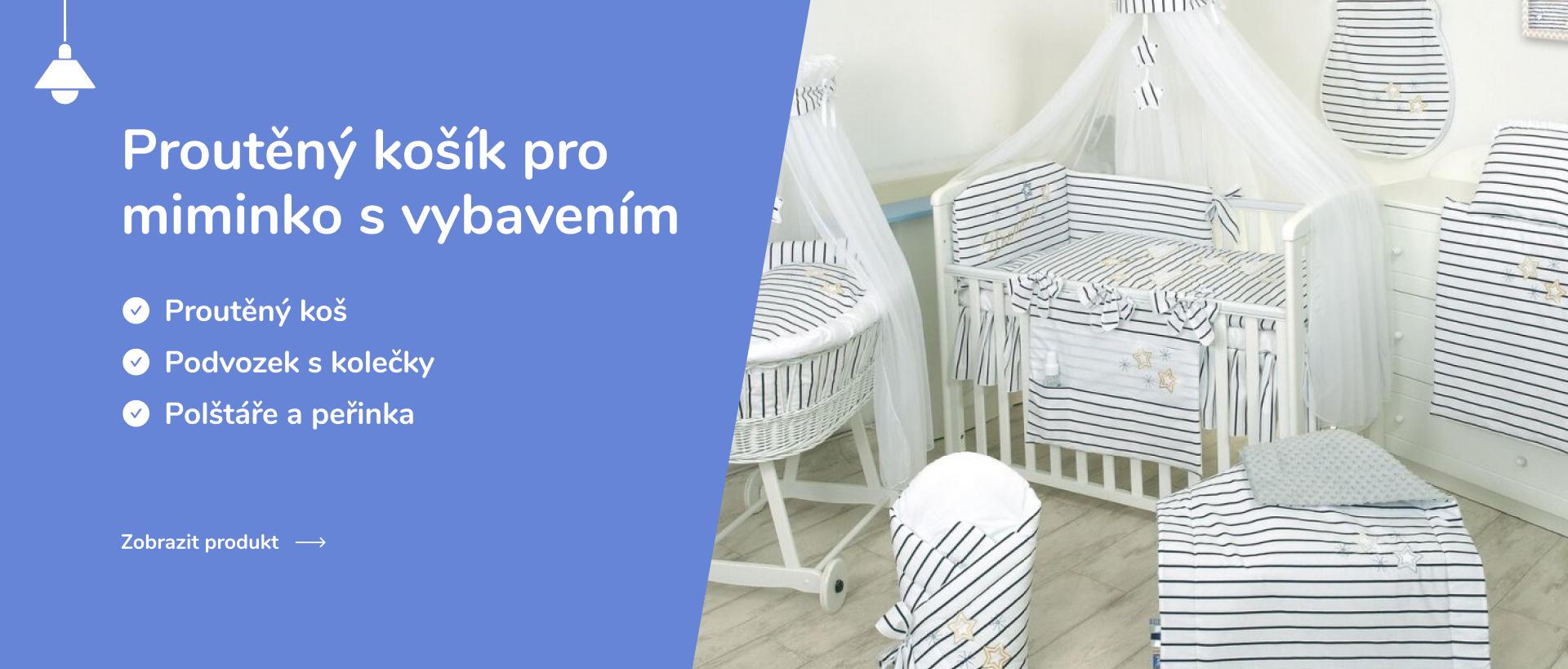 Proutěný košík pro miminko s vybavením