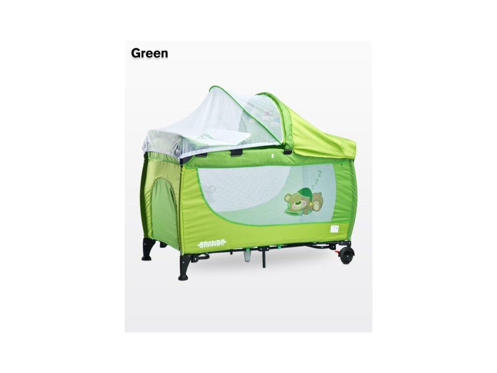 Cestovní postýlka caretero grande zelená