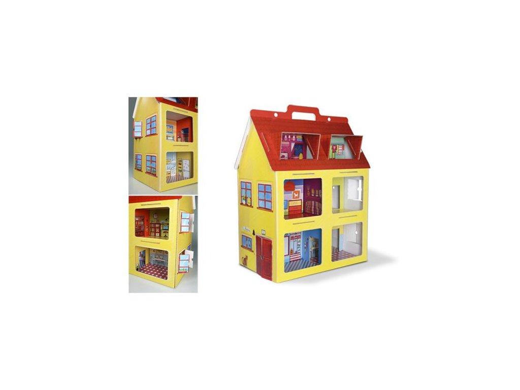 Kartonový domeček pro panenky