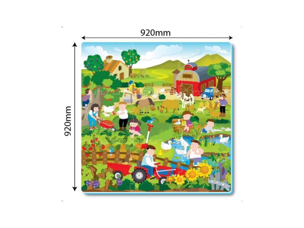 Pěnová podložka puzzle farma