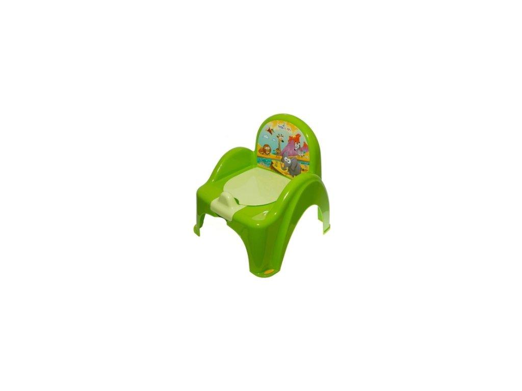 Dětský nočník s poklopem hrající TEGA zelený