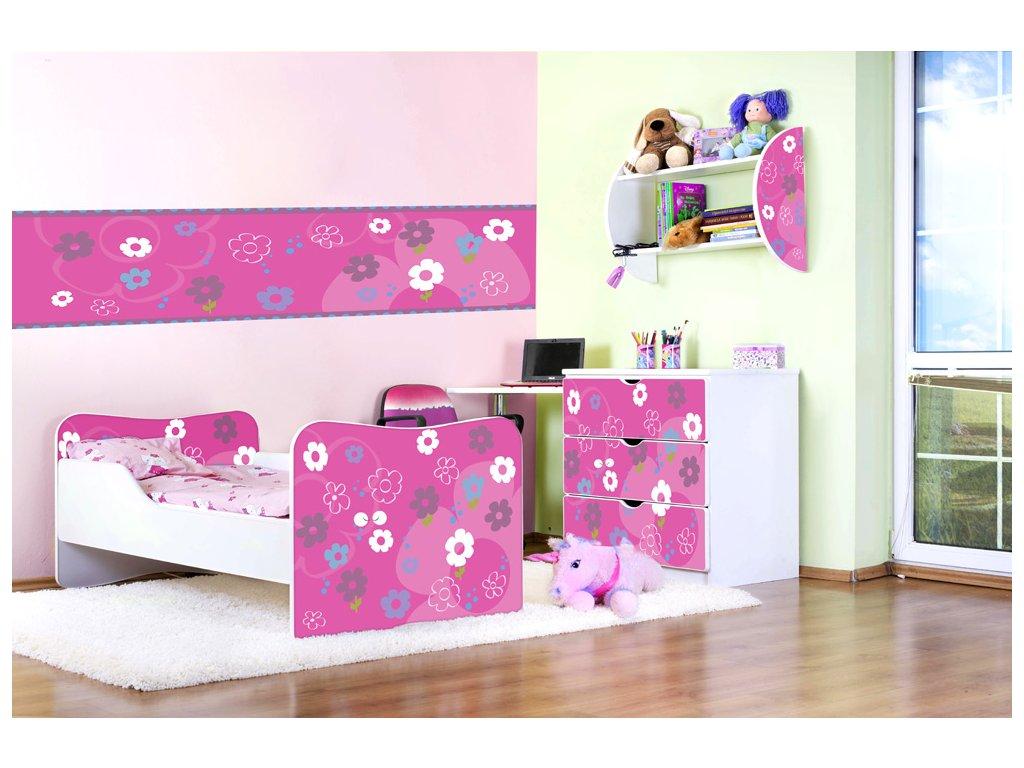 Dětský pokoj Adam - Růžové květinky