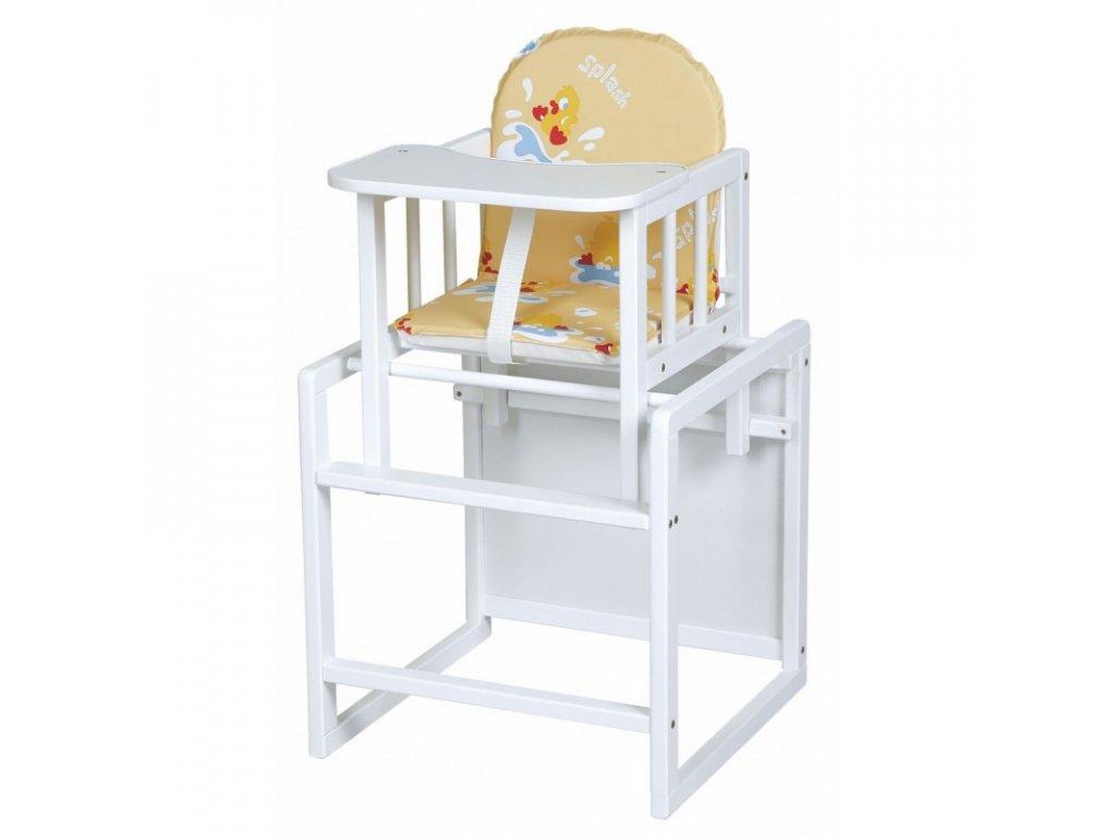 dřevěná jídelní židlička aga bílá
