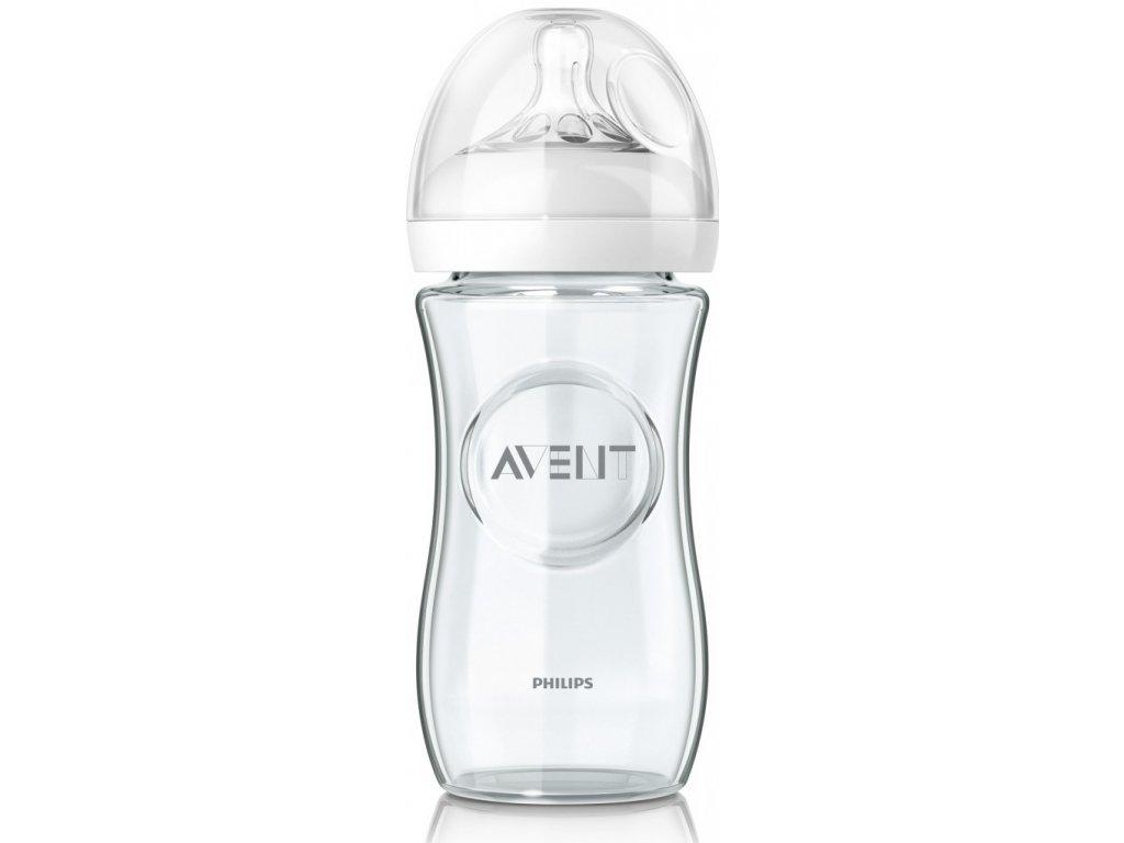 avent skleněná kojenecká láhev natural 240 ml