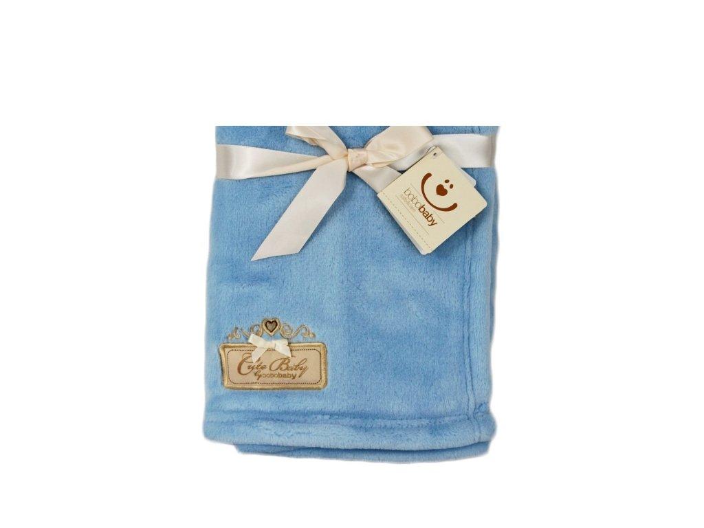 Dětská deka BoboBaby modrá KCSN-07