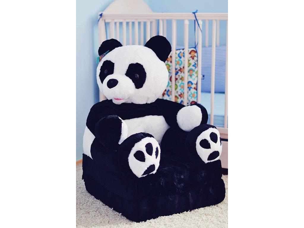dětské plyšové křesílko panda