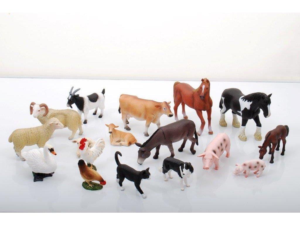 figurky domácí zvířata 17ks