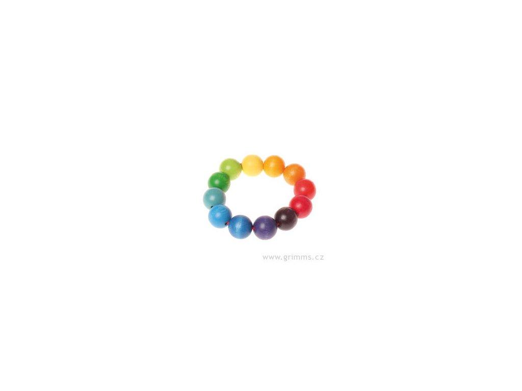 Korálkový kroužek - hračka pro miminka