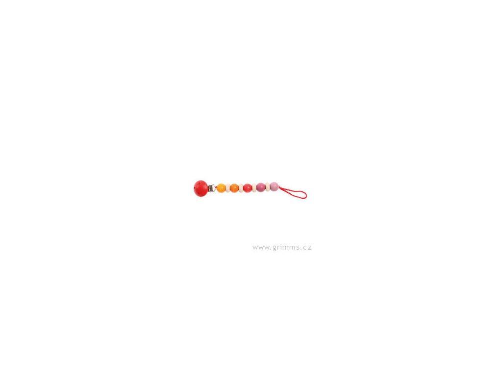 Růžovo-červená šňůra na dudlík