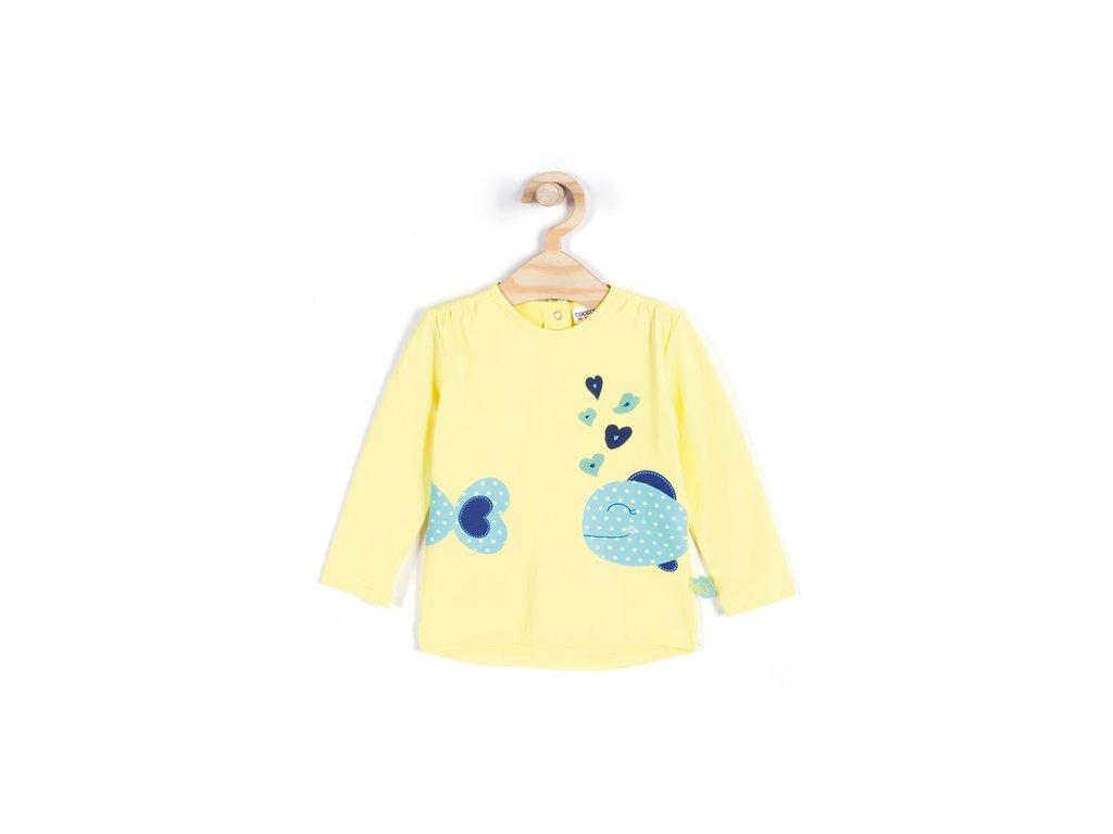 Coccodrillo - Dívčí triko s dlouhým rukávem vel. 110