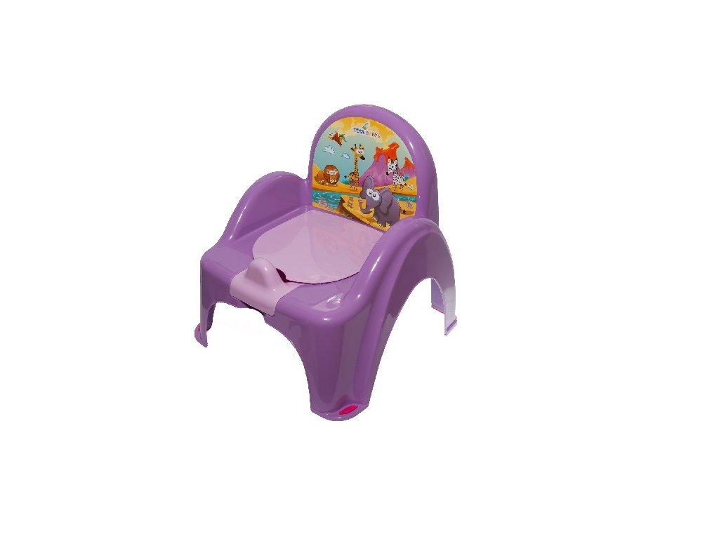 Dětský nočník s poklopem hrající TEGA fialový