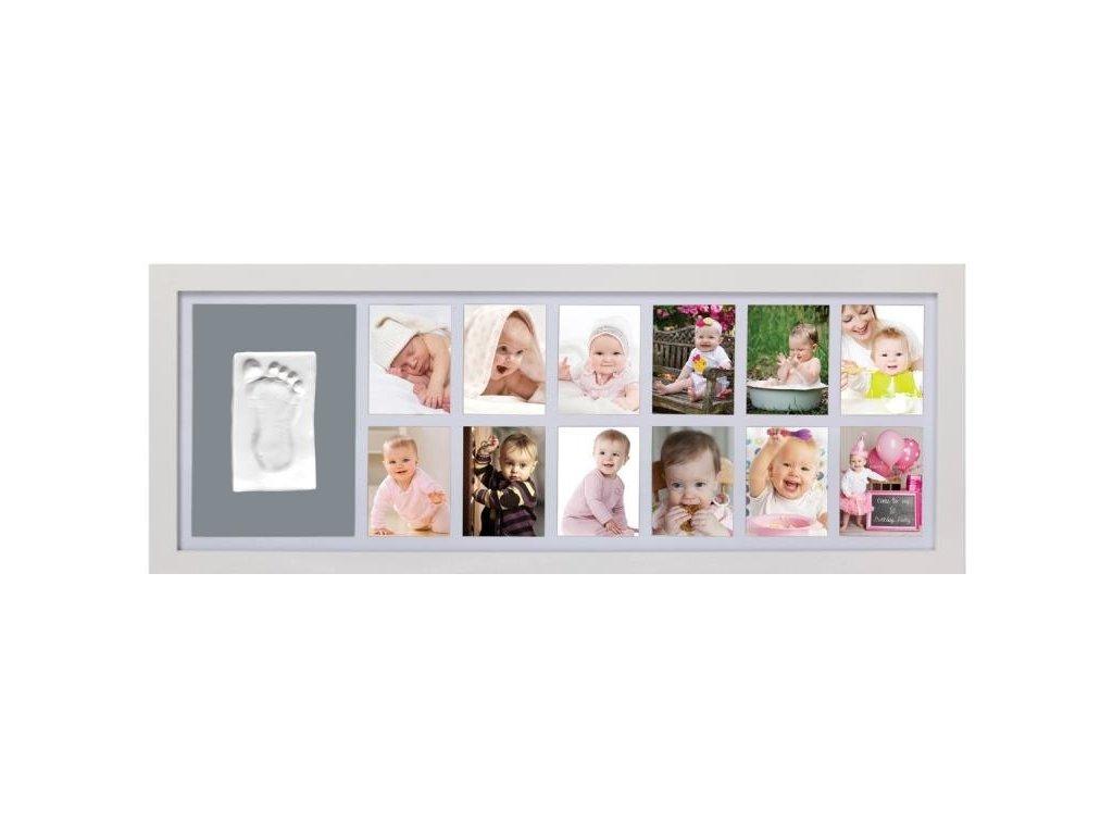 rámeček s fotografiemi a otisk adora