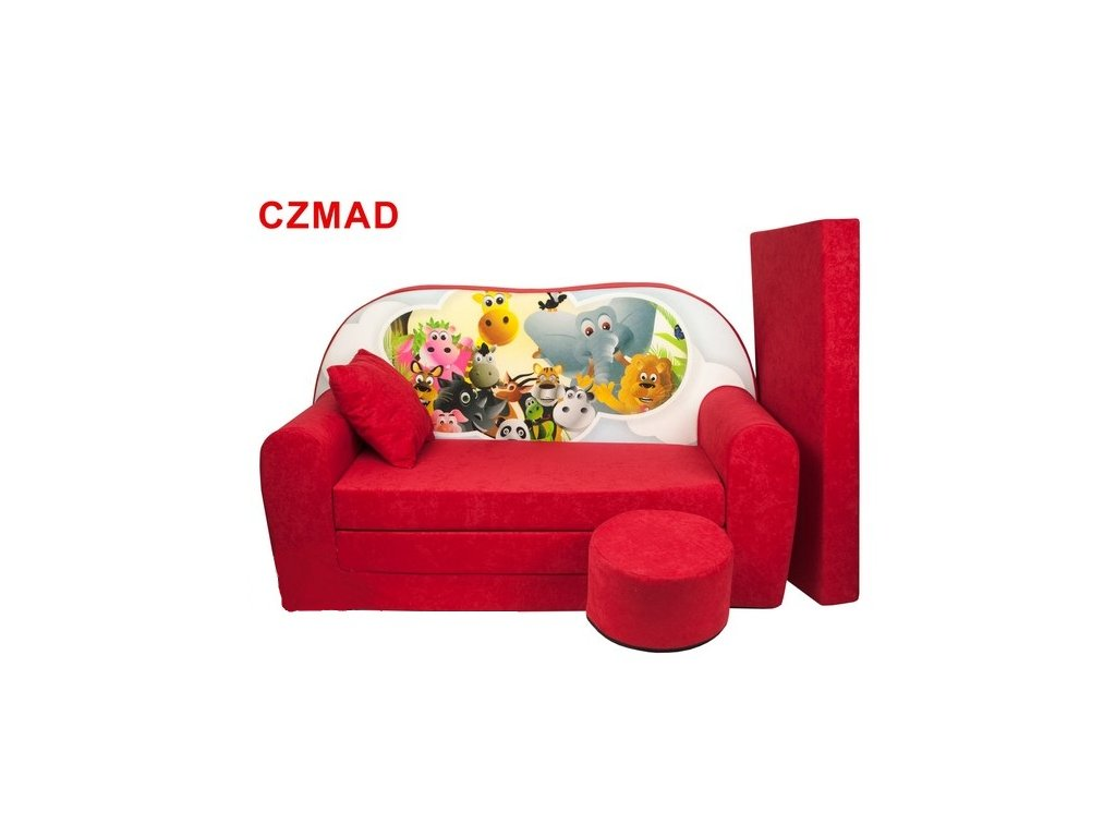 molitanová sedačka s bobkem červená madagaskar