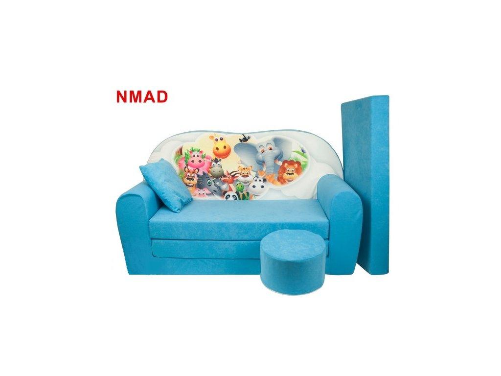 molitanová sedačka s bobkem tyrkysová madagaskar