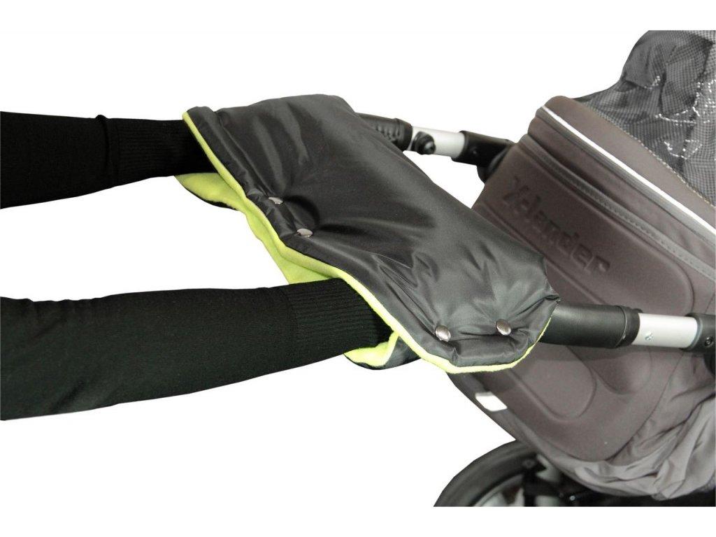 Emitex Rukávník ke kočárku černý + limetka