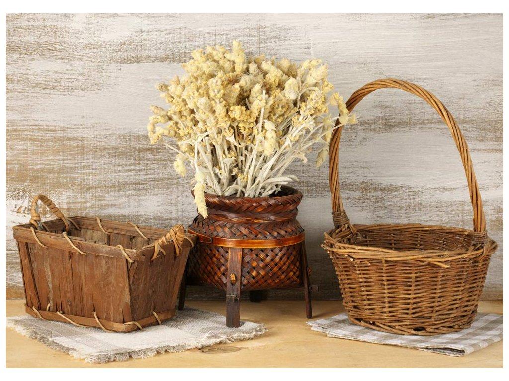 obraz pletené košíky