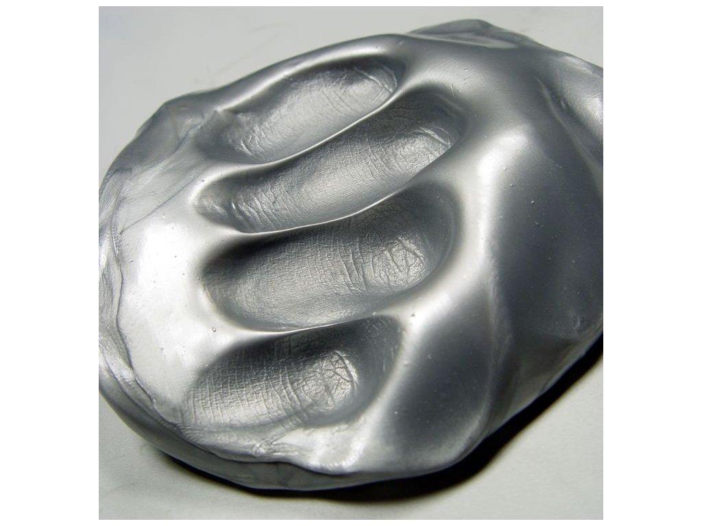 Inteligentní plastelína - Zářívá stříbrná