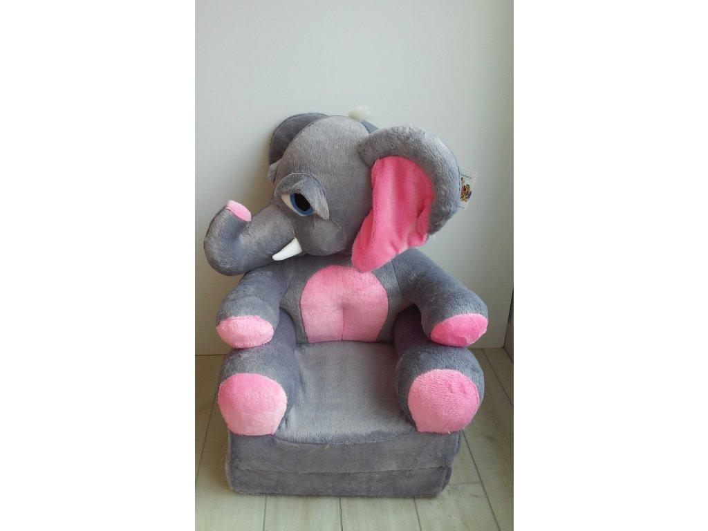 Dětské plyšové křesílko slon
