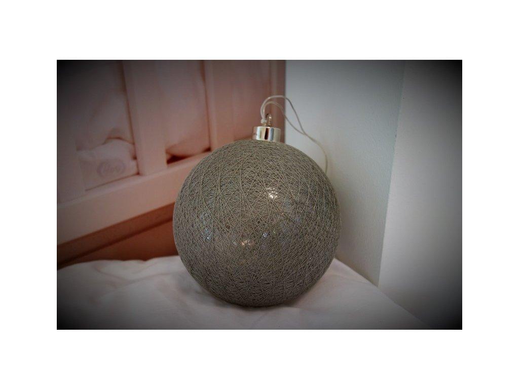 vánoční dekorace led světelná koule baňka