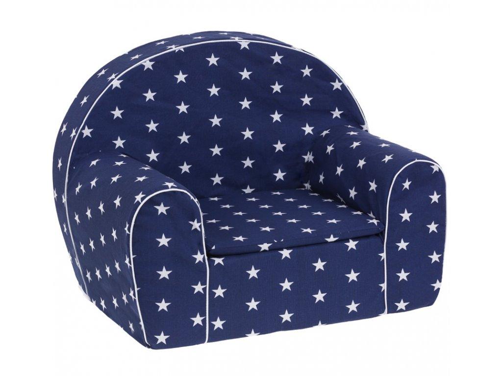 molitanové křesílko modré bílé hvězdy
