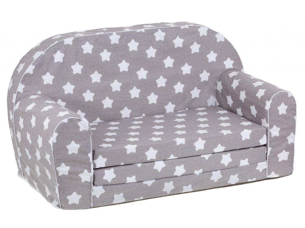 molitanová sedačka 100 cm šedá bílé hvězdy
