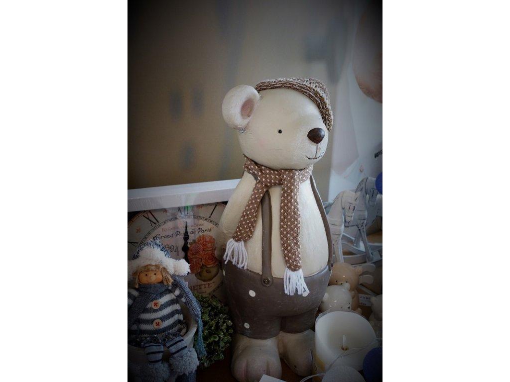 Dekorace - Keramický medvídek - 50 cm