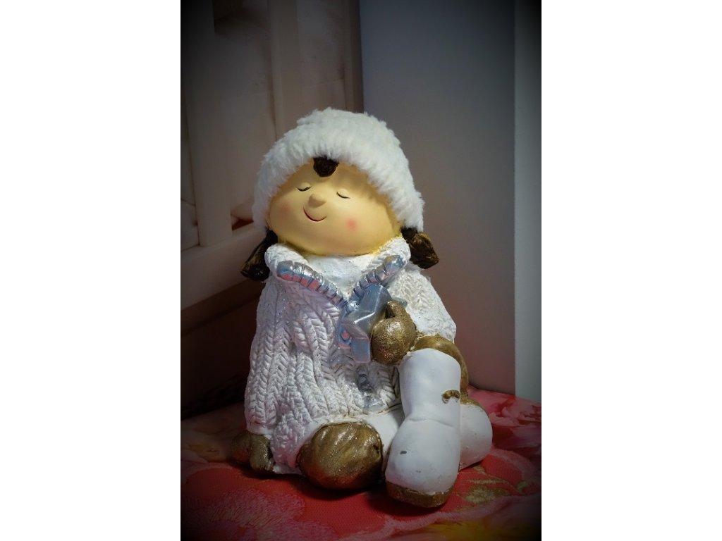 vánoční keramická panenka