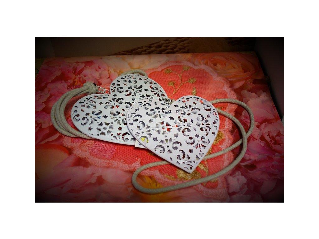 Dekorace - Kovové srdce - malé