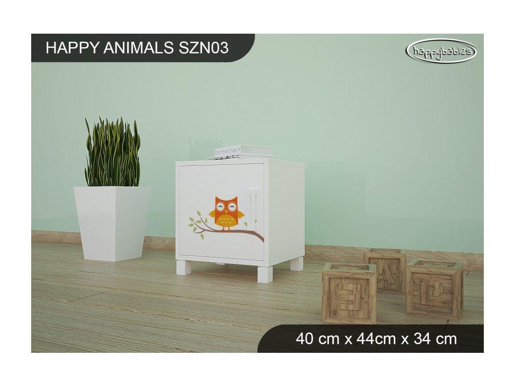 Noční stolek Animals SZN03 AM02