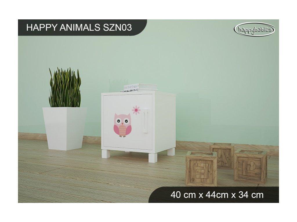 Noční stolek Animals SZN03 AM04