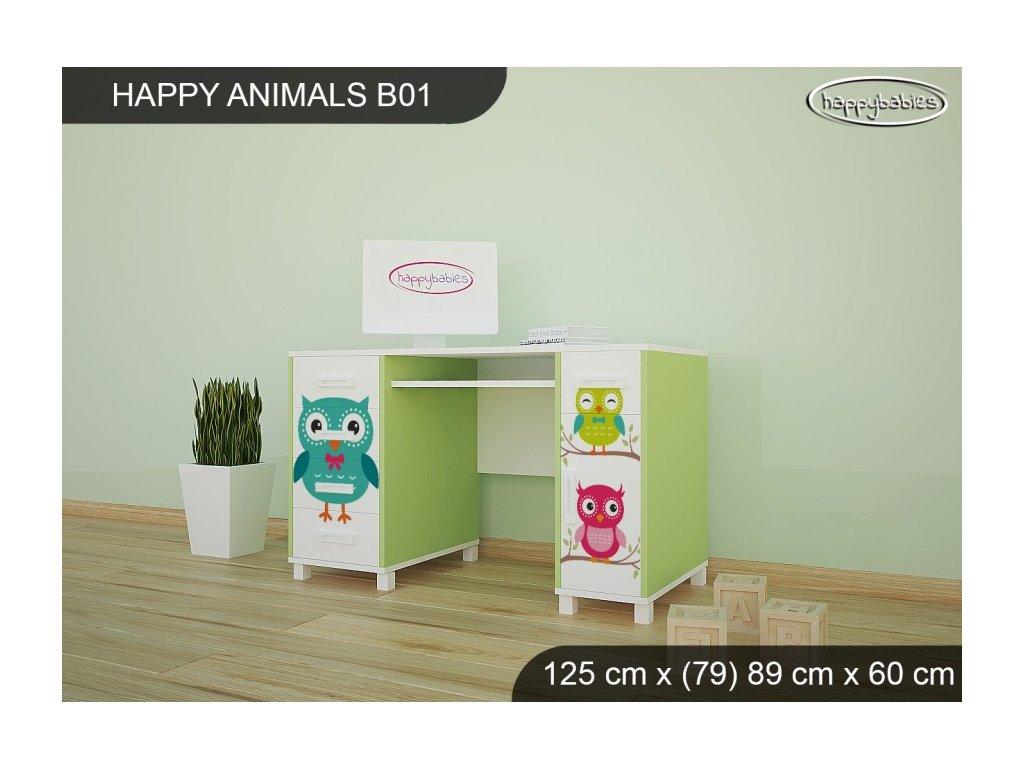 Psací stůl animals B01 sovičky
