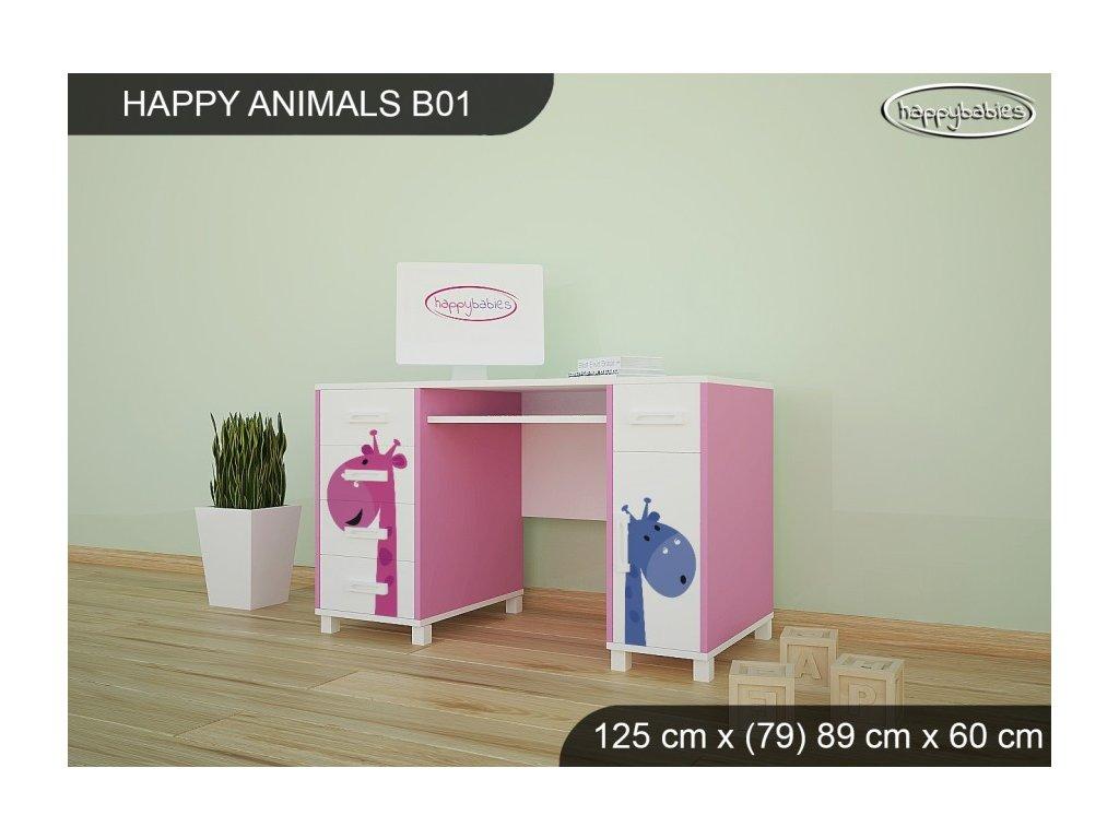 Psací stůl animals B01 žirafky