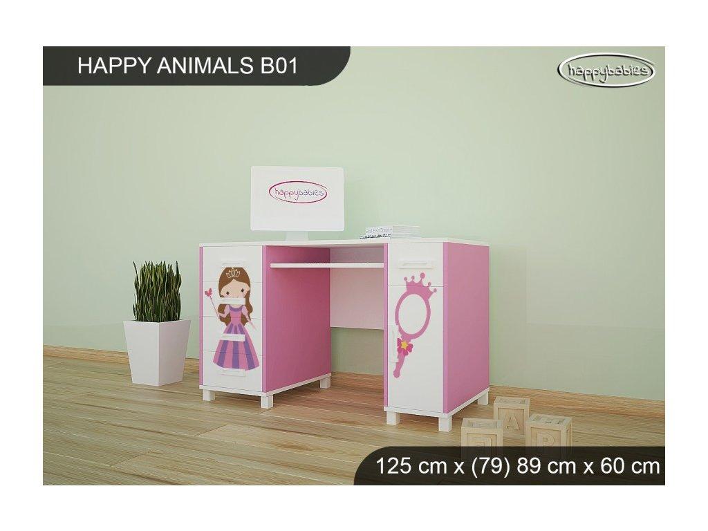Psací stůl Animals B01 AM08 sovičky