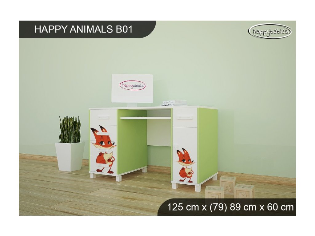 Animals psací stůl B01 AM10
