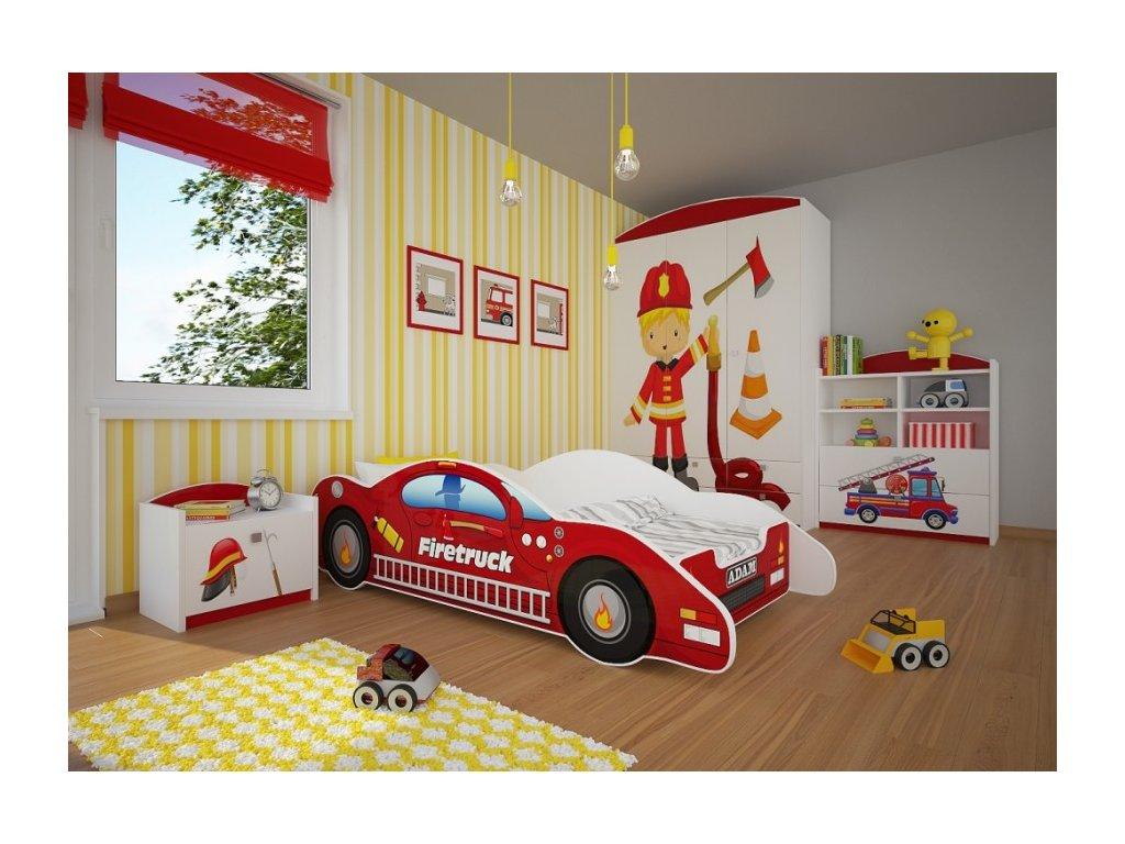 Dětská postel auto hasiči 4