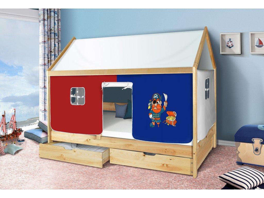 Dětská domečková postel pirát