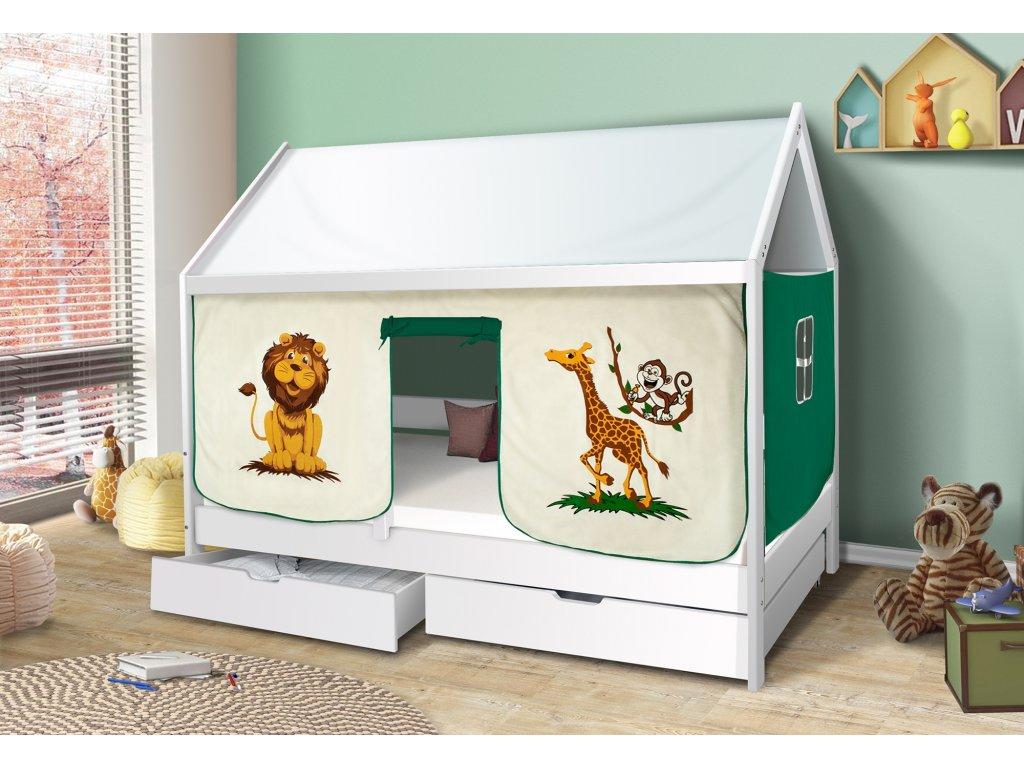 Dětská domečková postel zoo