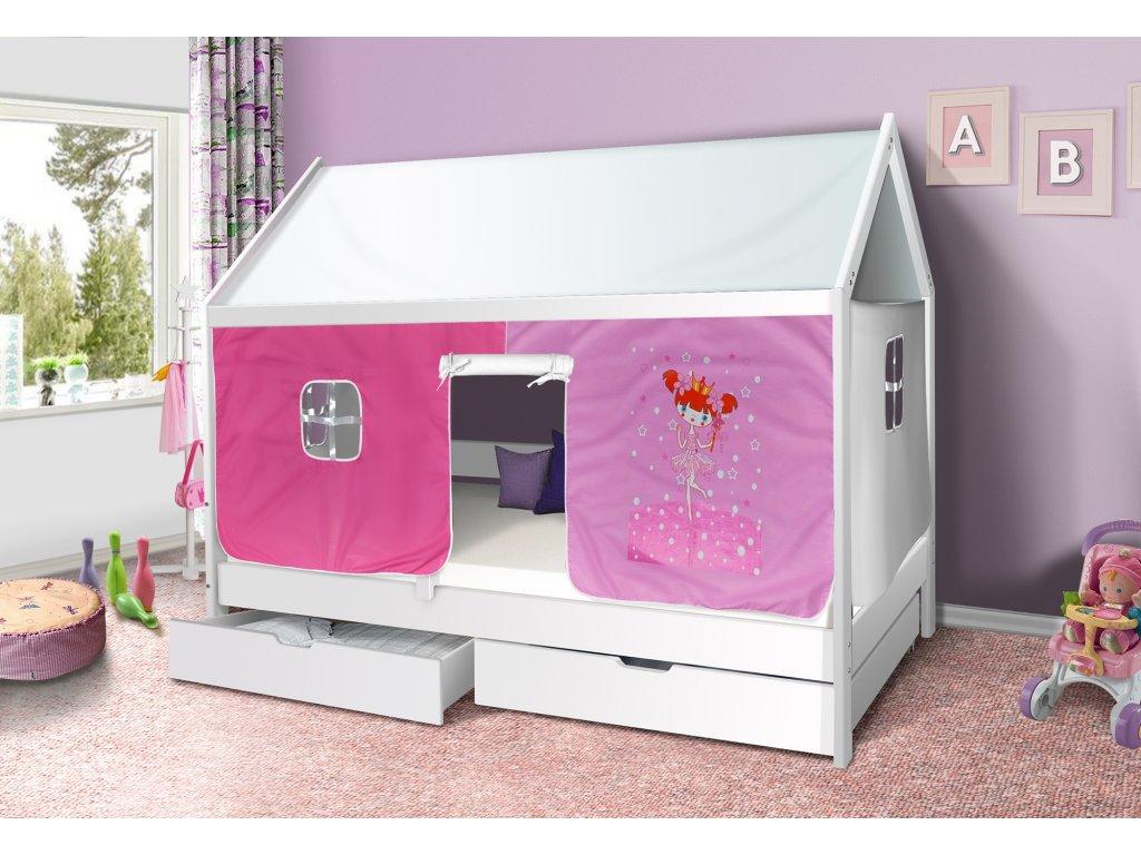 Dětská domečková postel princezna