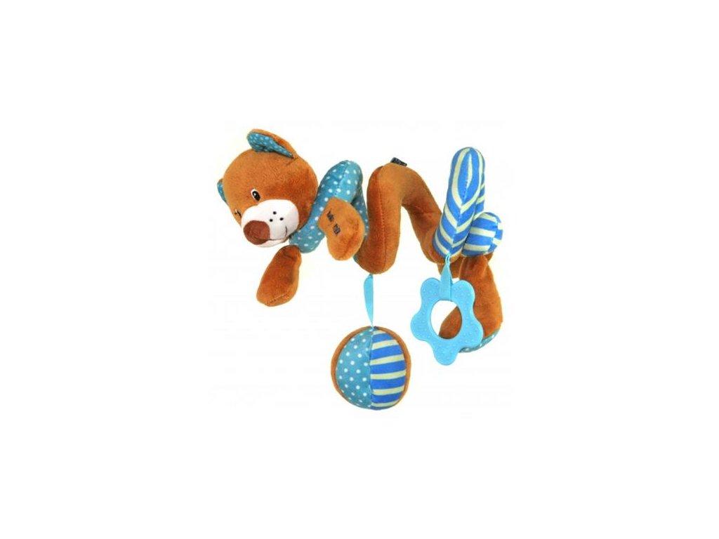 Baby Mix spirálka do kočárku medvídek modrý