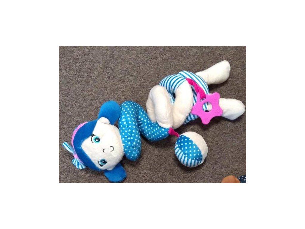 Baby Mix spirálka do kočárku holčička světle modrá námořnice