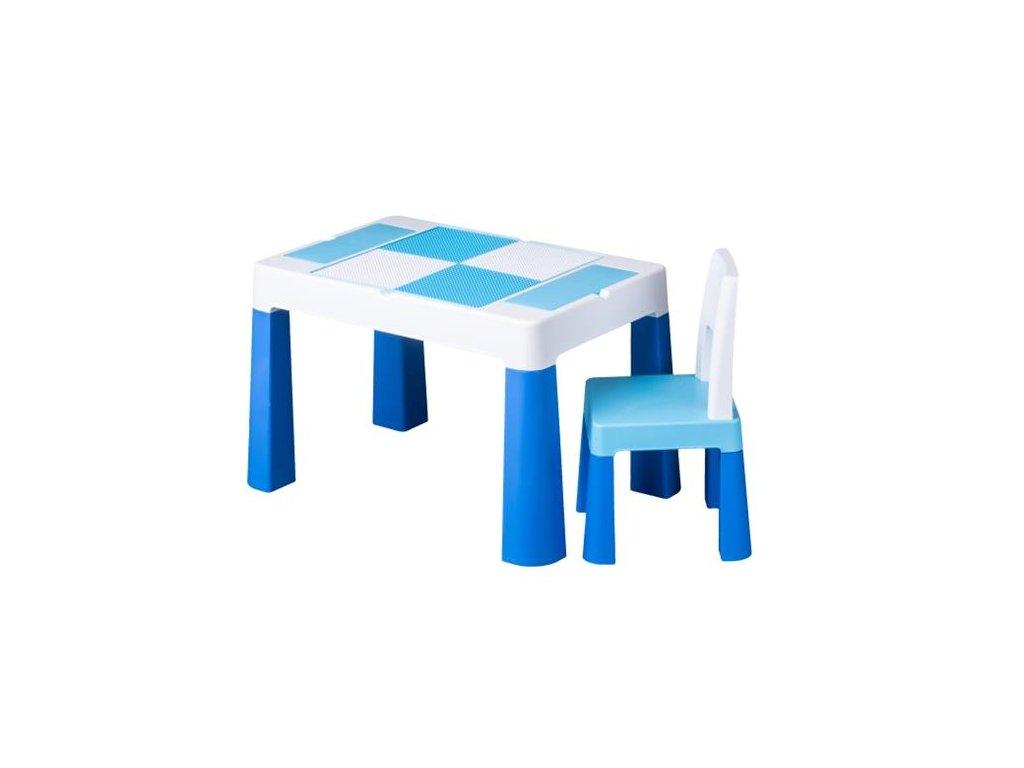 Dětský set stůl a židle MULTIFUN modrý