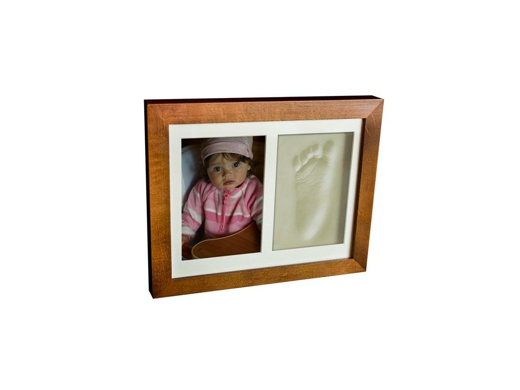 Otisk s fotkou v rámečku hnědý - 2dílný