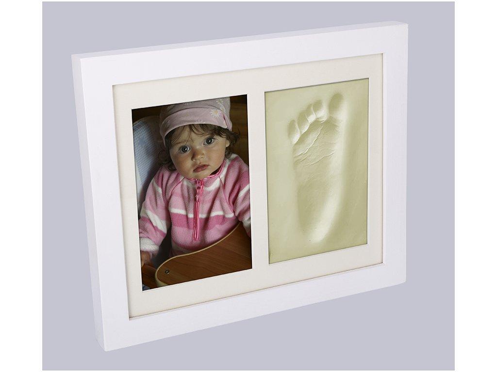 Otisk s fotkou v rámečku bílý - 2dílný