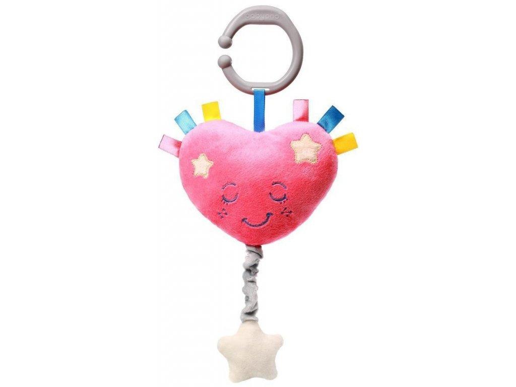 dětská hrající hračka baby ono srdce