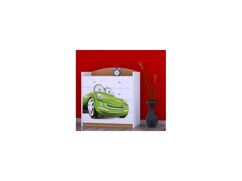 komoda zelené auto