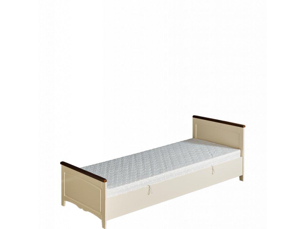 Postel s úložným prostorem a matrací 120 x 90 cm provence prestige